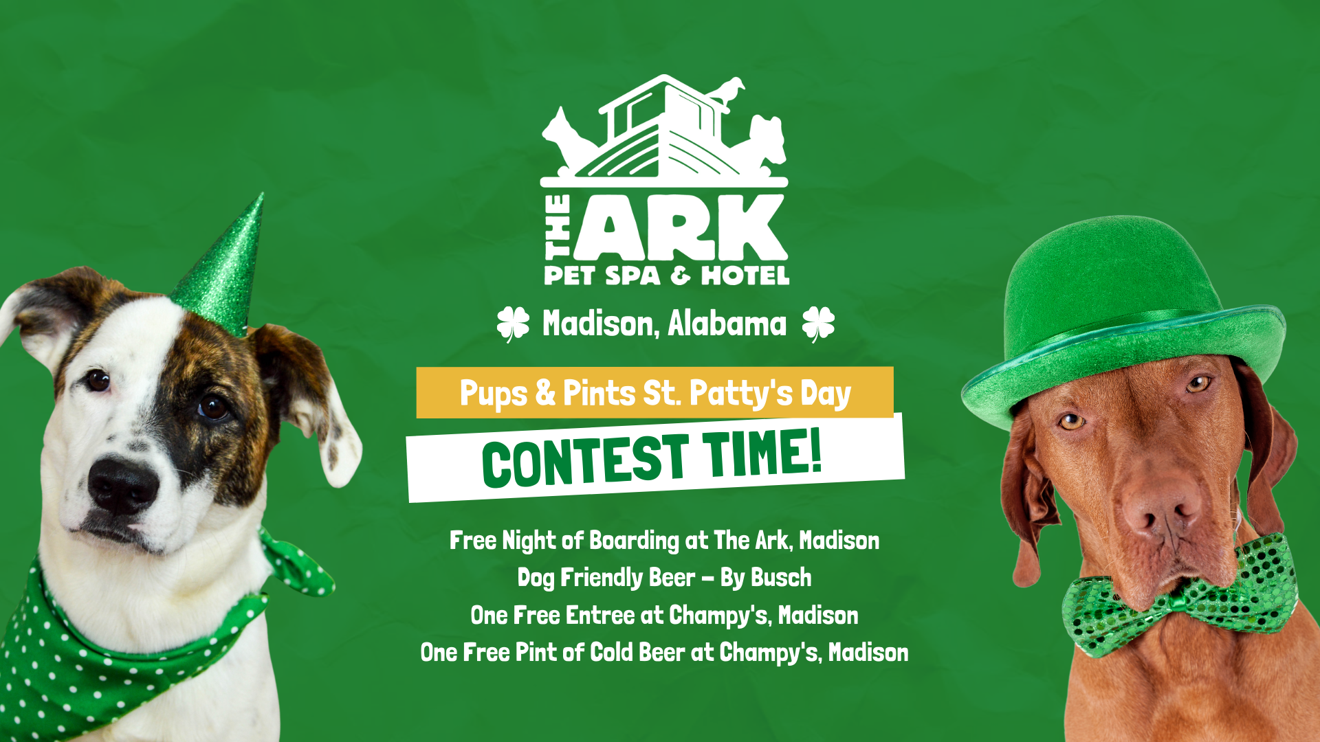 Pups & Pints | St. Patty\'s Day Contest